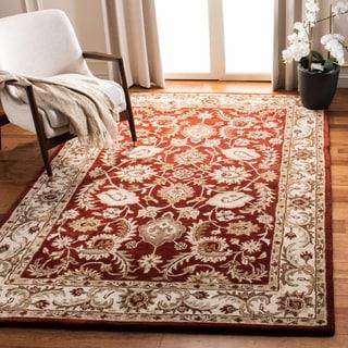 Safavieh Handmade Royalty Red/ Ivory Wool Rug