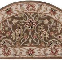 Hand-tufted Scottsville Forest Wool Area Rug (2' x 4' Hearth)