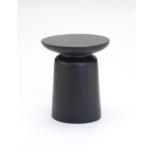 Black Resin Round Side Table