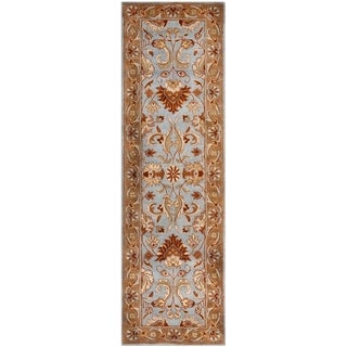 Safavieh Handmade Heritage Timeless Traditional Blue/ Beige Wool Area Rug (6 x 6 Square - Blue/Beige)
