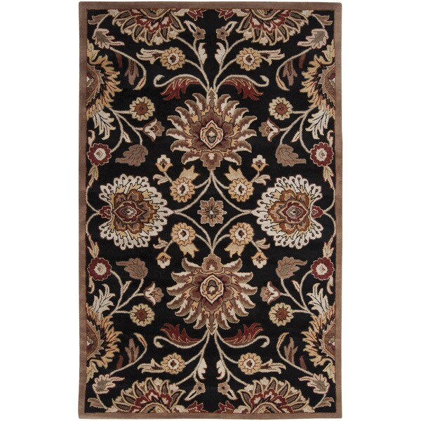 Hand-Tufted Silverton Floral Wool Area Rug (2' x 3')