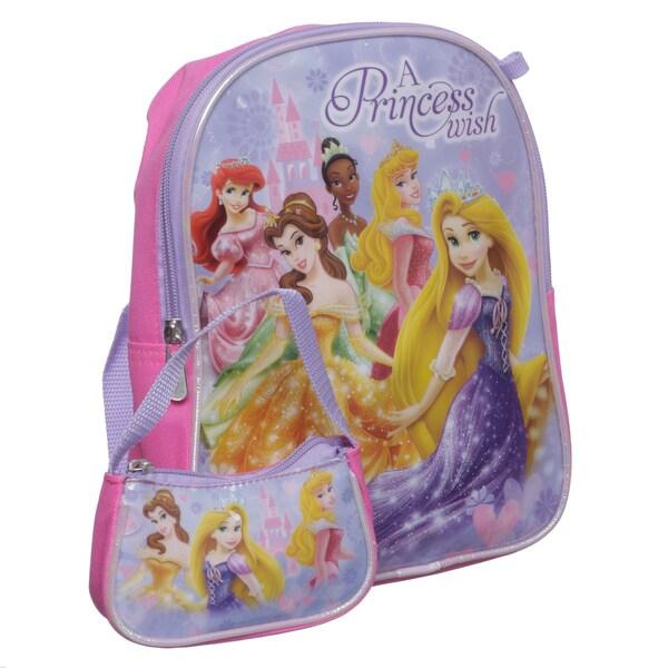 Disney PR21728-SC-PK Princess Mini Kid's Backpack with Mini Coin Purse
