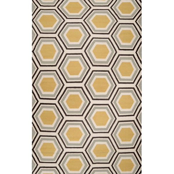 Hand woven Guadalupe Wool Area Rug - 2' x 3'