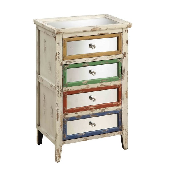 Creek Classics Ivory Rub One Drawer One Door Cabinet