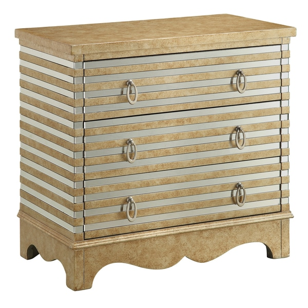 Creek Classics Conway Silver/ Gold 3-drawer Chest