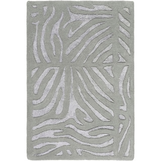 Hand-tufted Zebra Animal Print Independence Wool Rug (2' x 3')