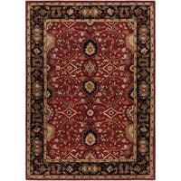 Hand-tufted Santee Red Wool Area Rug - 2' x 4'