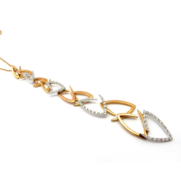 Sonia Bitton 14k Gold Designer 1/2ct TDW Diamond Geometric Necklace (G-H, SI1-SI2)