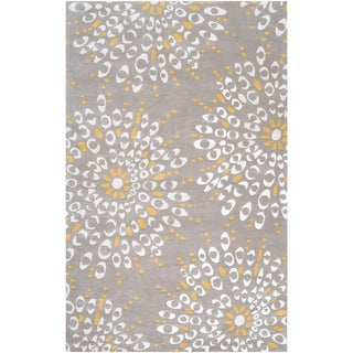 Hand-tufted Duarte Floral Wool Rug (2' x 3')