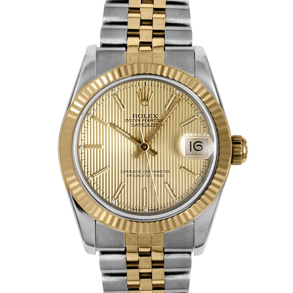 Pre-Owned Rolex MIdsize Women's Two-Tone Datejust Automatic Watch