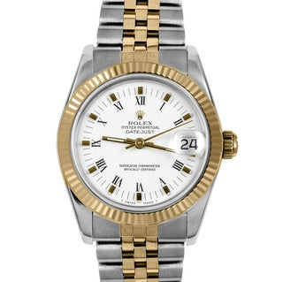 Pre-Owned Rolex Women's Midsize Two-tone Datejust Watch