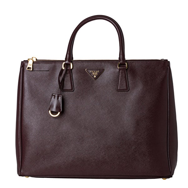 5bd77641f4ff ... get prada burgundy saffiano leather top handle tote bag 98ea6 49e42