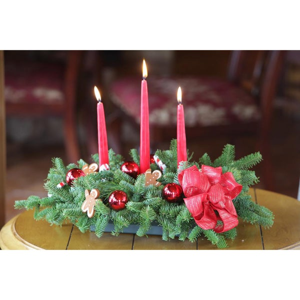 Enchanted Gingerbread Man 3-candle Centerpiece