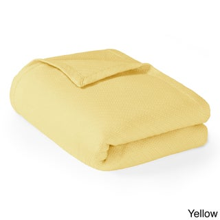 Madison Park Liquid Solid Colored Woven Cotton Blanket (Option: King-Yellow)