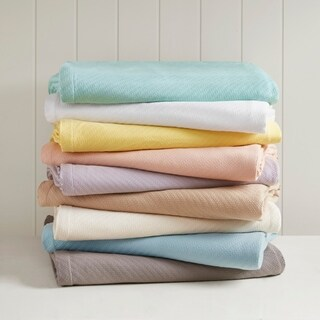 Madison Park Liquid Solid Colored Woven Cotton Blanket (3 options available)