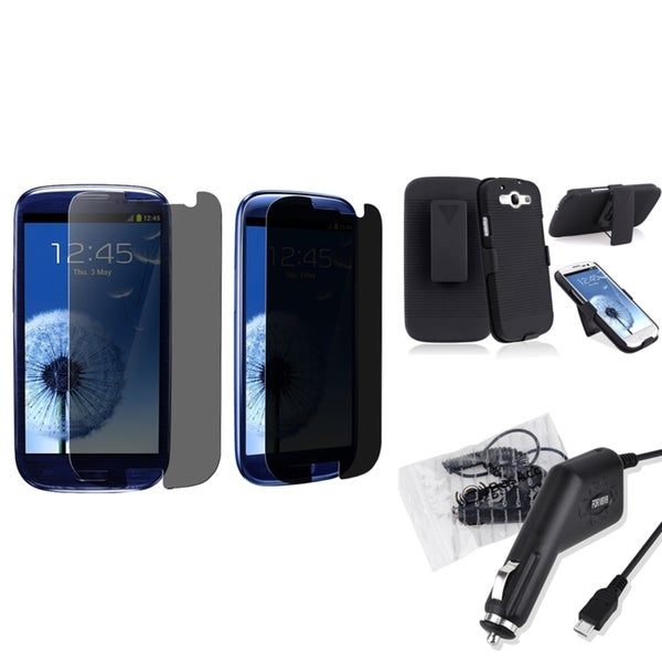 INSTEN Car Charger/ Holster/ Protector for Samsung Galaxy S III/ S3