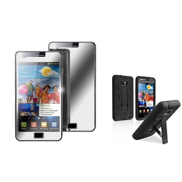 BasAcc Hybrid Case/ Mirror Protector for Samsung Galaxy S II/ S2 i9100