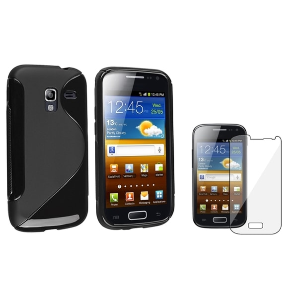 BasAcc Black TPU Case/ Screen Protector for Samsung Galaxy Ace 2 i8160