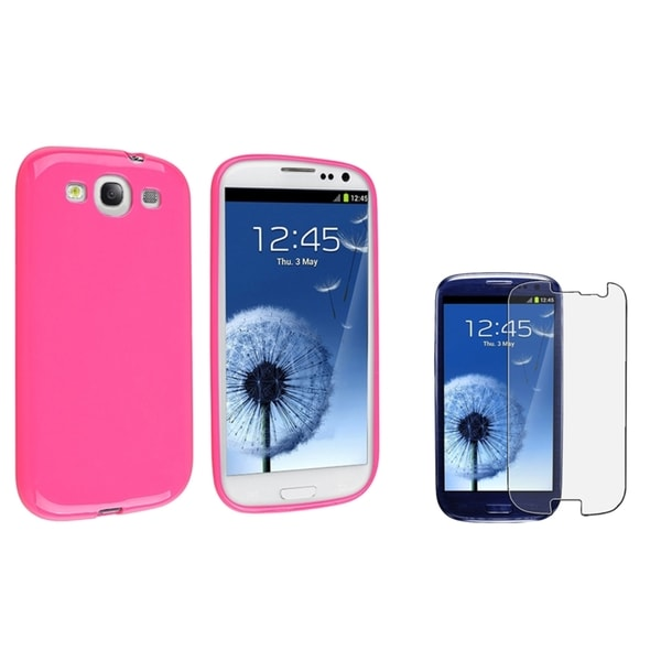 INSTEN Phone Case Cover/ Anti-glare Protector for Samsung Galaxy S III/ S3 i747