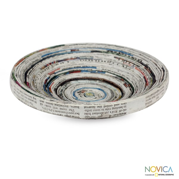 Recycled Paper 'Spiral Legend' Centerpiece (India)