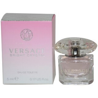 Versace Bright Crystal Women's 0.17-ounce Eau de Toilette Splash (Mini)