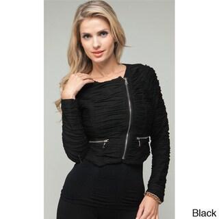 Stanzino Women's Zip Up Cropped Jacket
