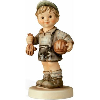 M I Hummel 'Keeper of the Goal' Porcelain Figurine