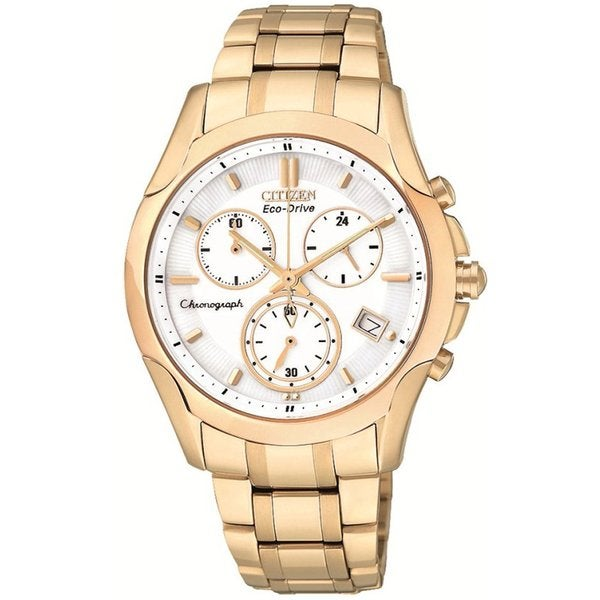 Citizen Women's Rose Goldtone Eco-Drive Chronograph Watch