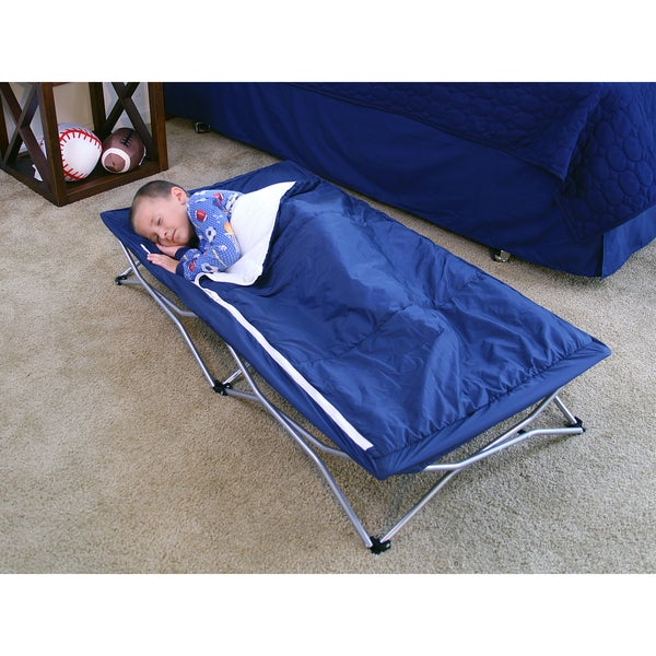 Shop Regalo My Cot Deluxe Portable Travel Bed Blue