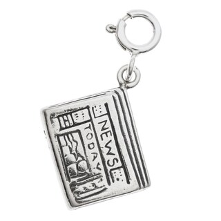 Sterling Silver Newspaper Charm