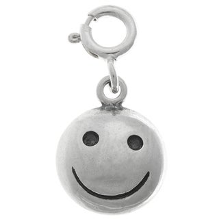 Sterling Silver Happy Face Charm