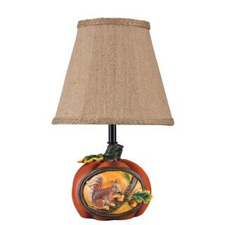 Somette Squirrel's Retreat Multi-colored Accent Lamp