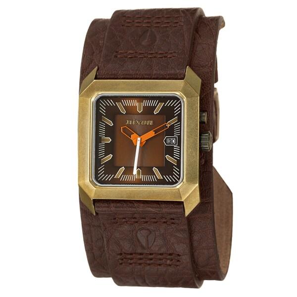 Nixon Men's Goldtone Steel 'Vector' Watch