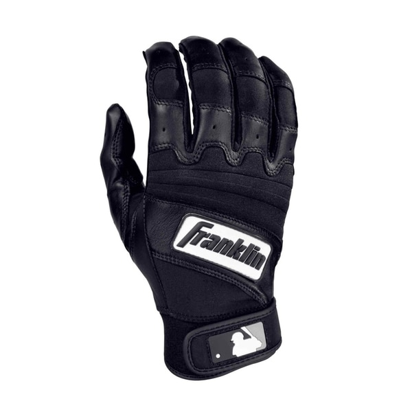 MLB Youth Natural 2 Black/Black Batting Glove
