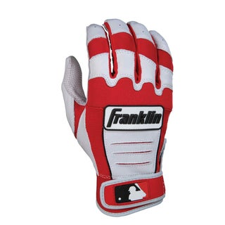 MLB Adult CFX PRO Pearl/Red Batting Glove