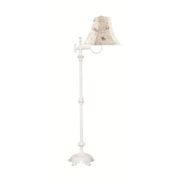 Somette Filigree Eggshell Floor Lamp