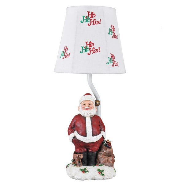 Somette Ho! Ho! Ho! Santa Multicolored Accent Lamp