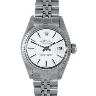 Pre-Owned Rolex Women's White Dial Jubilee Stainless Steel Datejust Watch