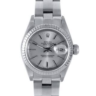 Pre-Owned Rolex Women's Silver Dial Oyster Stainless Steel Datejust Watch|https://ak1.ostkcdn.com/images/products/7504858/7504858/Pre-owned-Rolex-Womens-Stainless-Steel-Datejust-Watch-P14946283.jpg?impolicy=medium