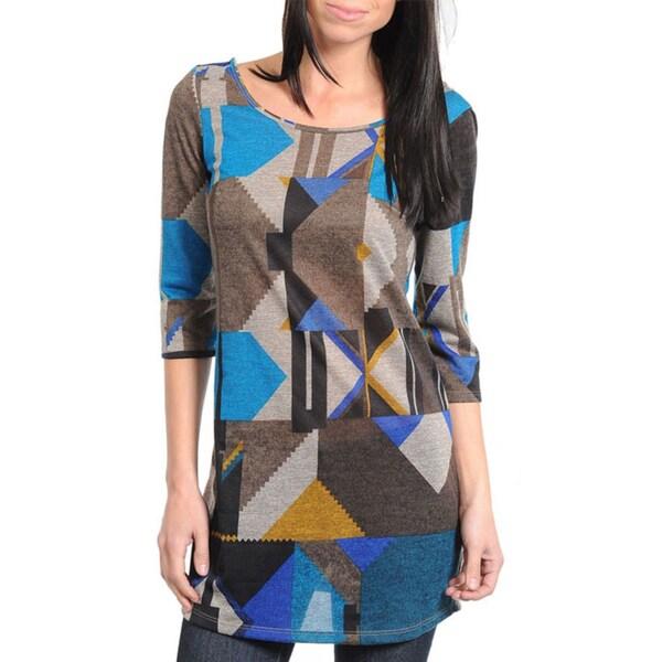 Stanzino Women's Geometric Print Tunic