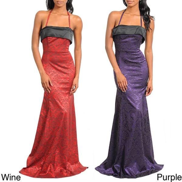 Stanzino Women's Neckline Tie Gown