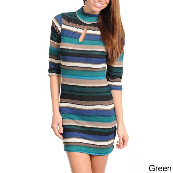 Stanzino Women's Striped Sweater Dress