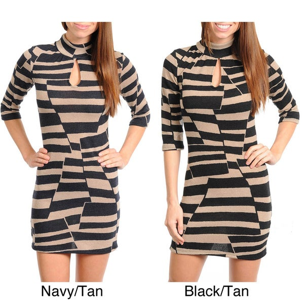 Stanzino Women's Geometric Print Sweater Dress