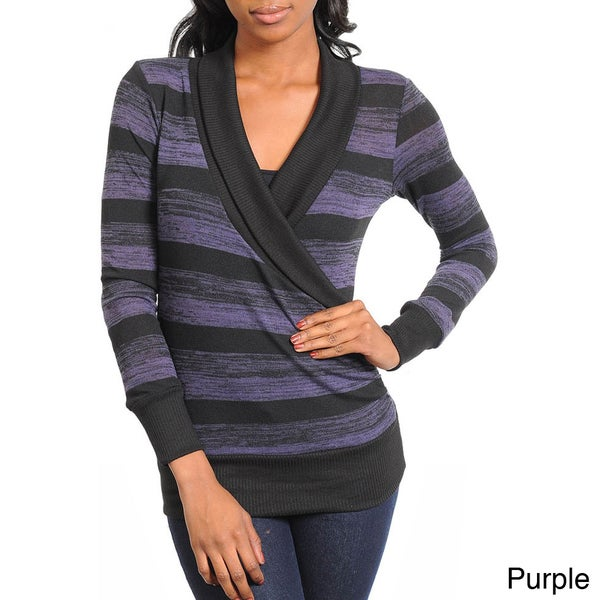 Stanzino Women's Striped Sweater Top