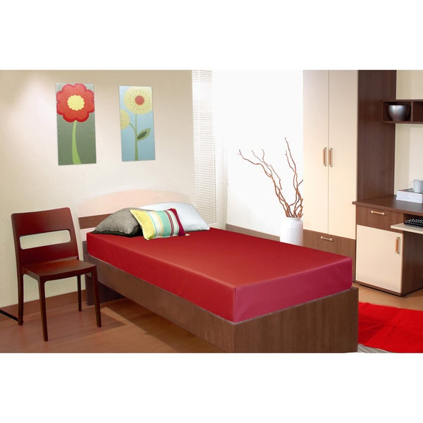 Select Luxury Red Reversible Vinyl 6-inch Medium Firm Twin-size Foam Mattress