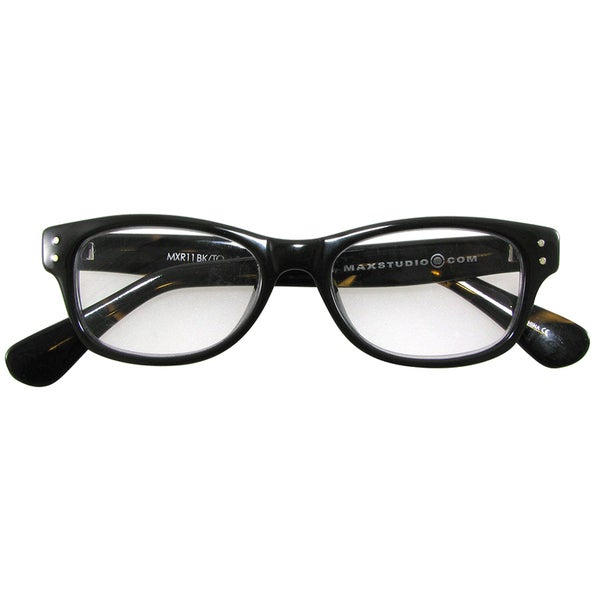 m by max studio s black tortoise reading glasses