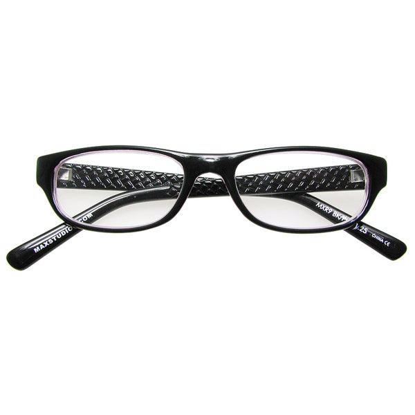 max studio black pink reading glasses free shipping on