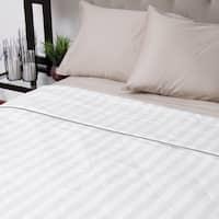 Silk-filled Damask Stripe Cotton Blanket