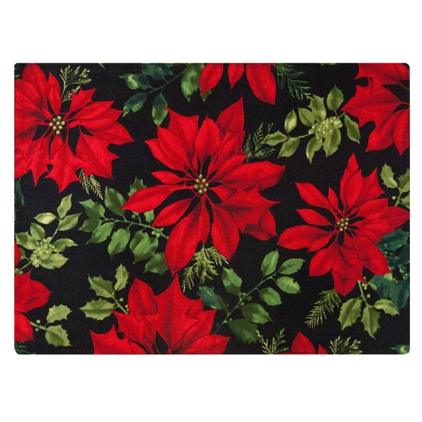 Crimson Placemat by Rose Tree 'Mistletoe and Holly' Placemats (Set of 6)