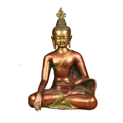 Thai Earth Touching Buddha Brass Carving (India)